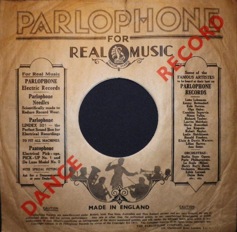 Foren / Hüllen O-P / ParlophonE (England) - Grammophon und ...