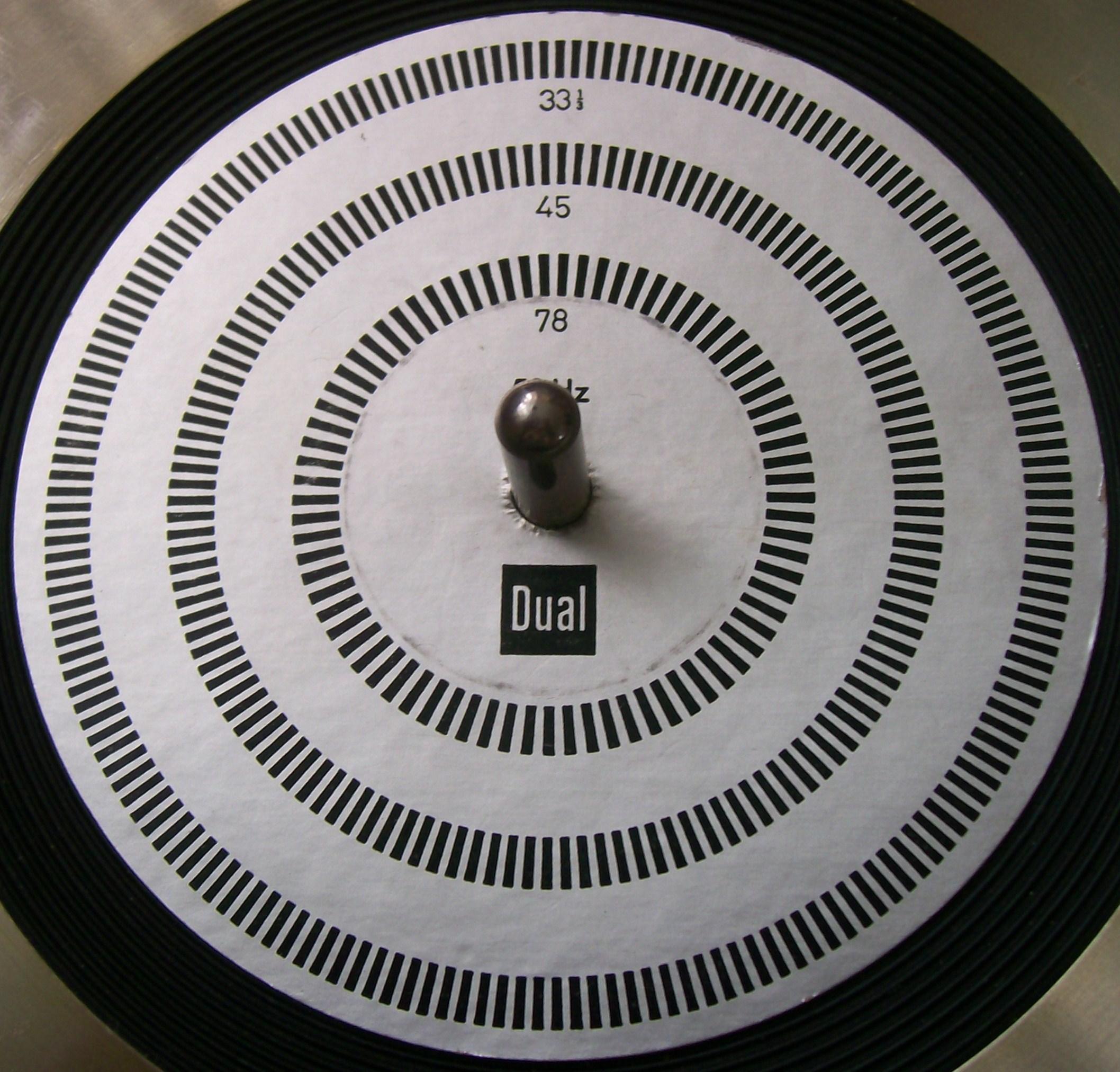Foren / Technik / Stroboskopscheibe für Schellackplatten