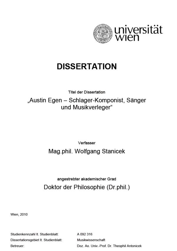 dissertation binden uni wien Allgemeine informationen e-theses ist das elektronische archiv der hochschulschriften (diplomarbeiten, dissertationen etc) der universität wien.