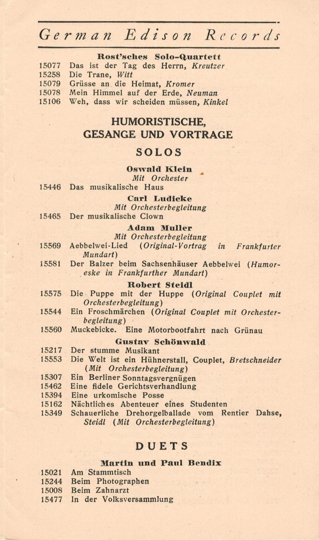 15106 Phonographen Schellack Edison Goldguss Walze Weh Das Wir Scheiden Müssen Nr