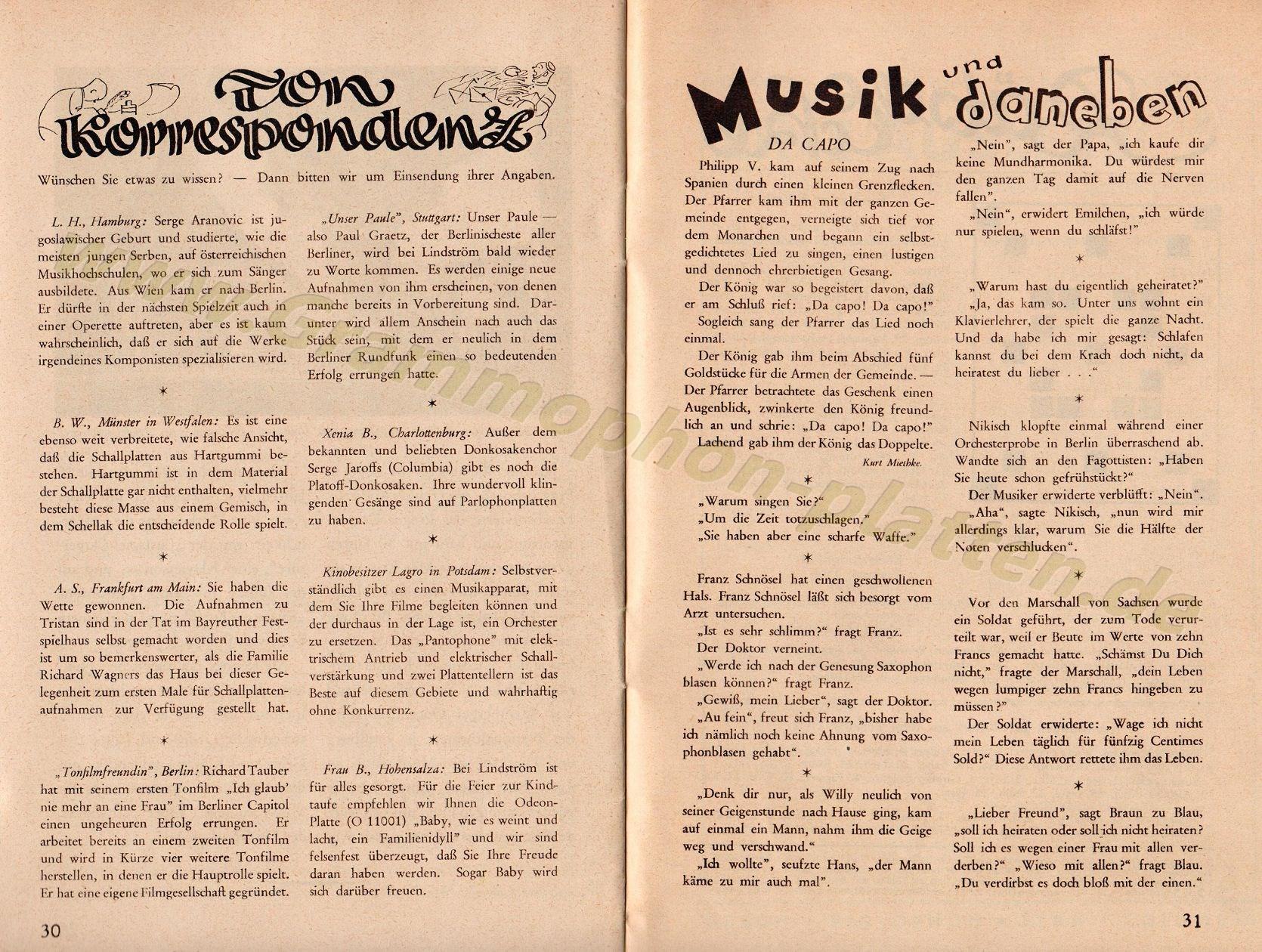 Foren / Zeitschriften/Hausmitteilungen / Der Ton - Ein Magazin für ...
