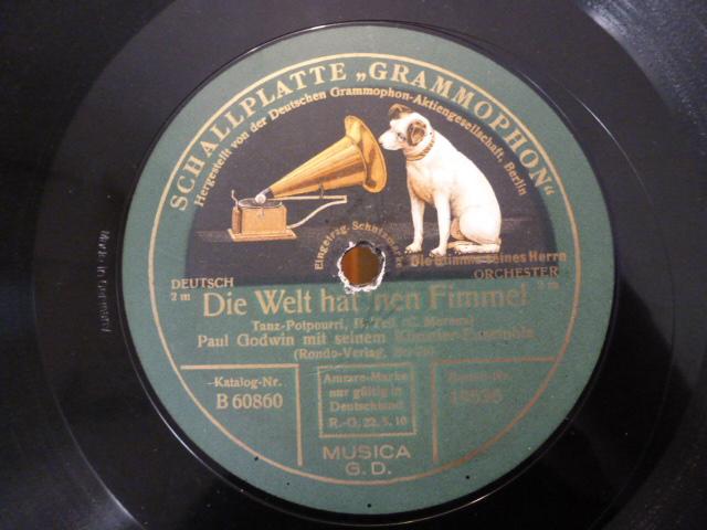 Grammophone Musikinstrumente Ehrlich Antike Schellack Schallplatte Deutsche Grammophon Gesellschaft