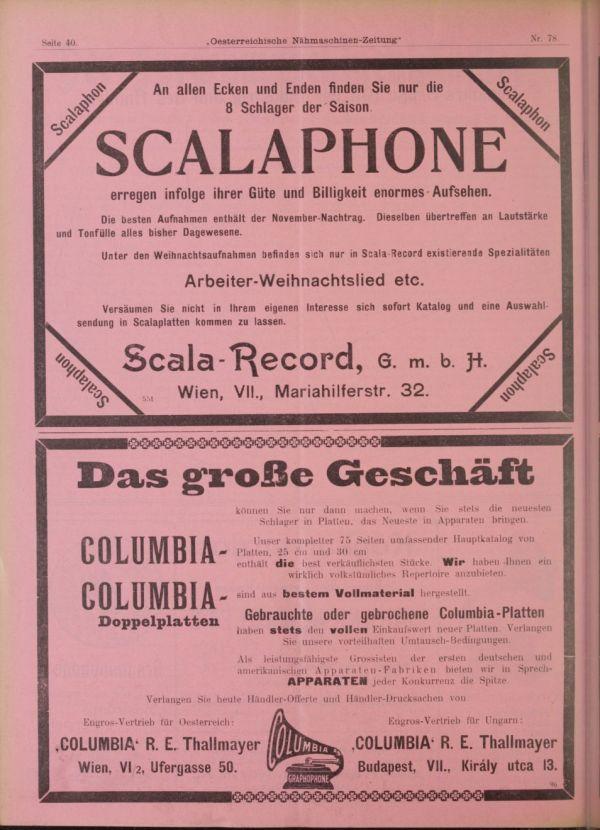 Der Sprechmaschinenhändler, Wien - Jahrgang 1910 - Grammophon und ...