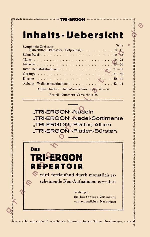 Foren / Plattenkataloge / Tri-Ergon Hauptverzeichnis 1929 ...