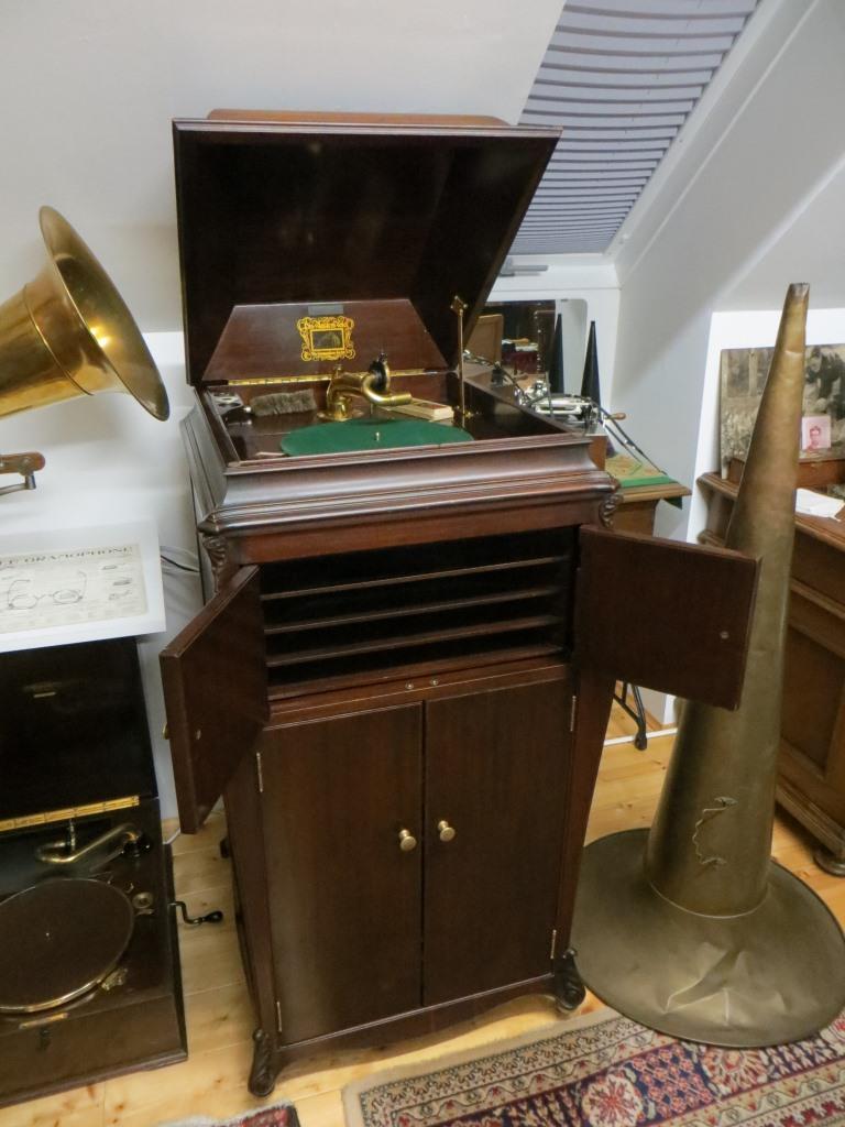 Hmv Tischgrammophon Mit Exibiton Schalldose Billigverkauf 50% Musikinstrumente